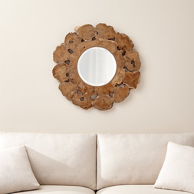Root Round Wall Mirror - Image 1 of 12