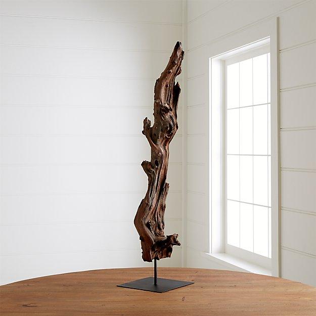 Root sculpture crate and barrel