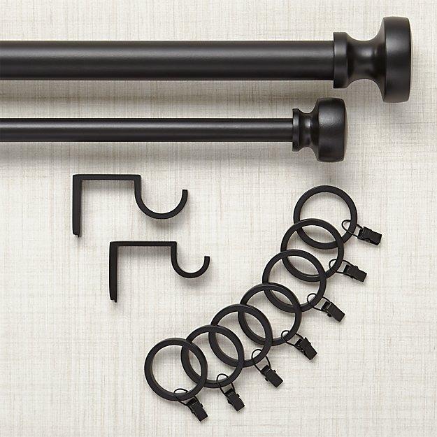 Rorke Black Curtain Hardware - Rorke Black Curtain Hardware Crate And Barrel