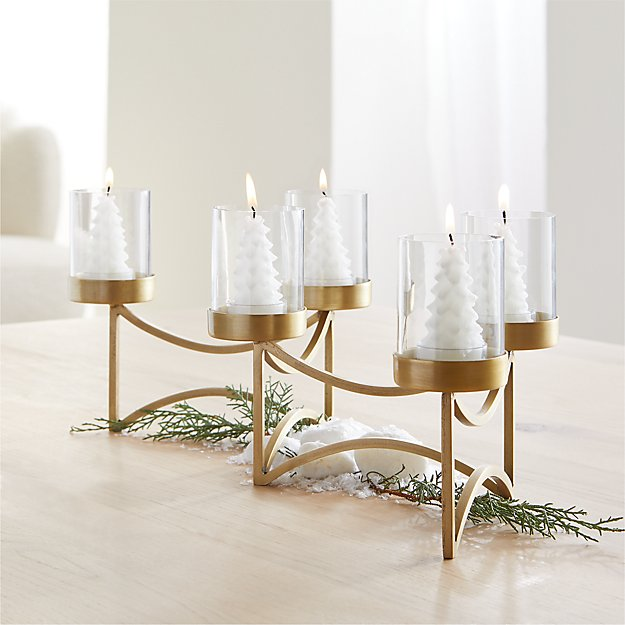 Rory Brass Tea Light Centerpiece - Image 1 of 4