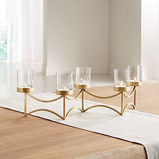 29725e5adc4 Rory Brass Tea Light Centerpiece