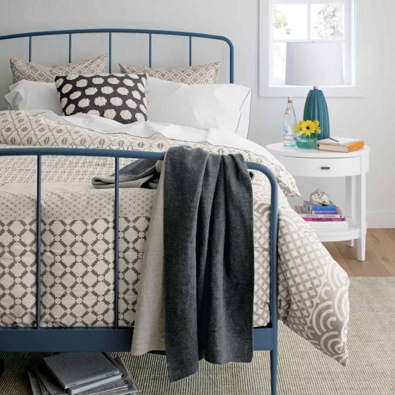 Online Designer Bedroom Arch White Oval Nightstand