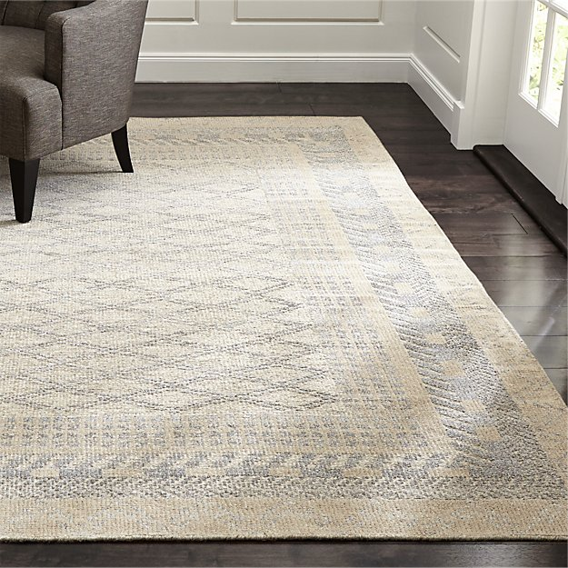 Rosalie Neutral Hand Knotted Oriental Rug Crate And Barrel