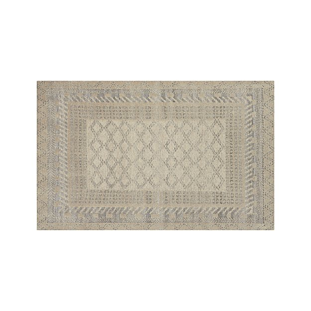 Rosalie Neutral Hand Knotted  Oriental 5'x8' Rug