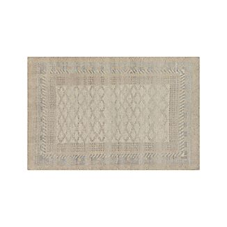 Rosalie Neutral Hand Knotted Oriental 6'x9' Rug