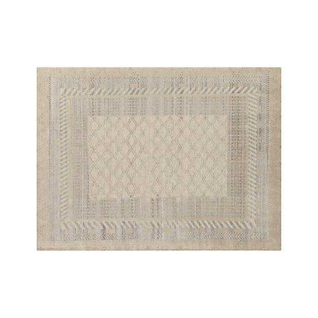 Rosalie 9x12 Silver Rug Reviews Crate And Barrel