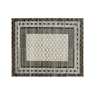 Rosalie Slate Grey Slate Hand Knotted Oriental 8'x10' Rug