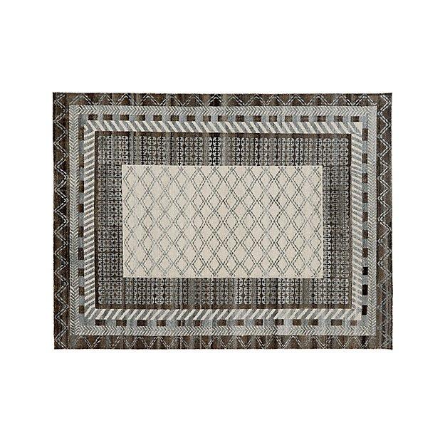 Rosalie Slate Grey Slate Hand Knotted Oriental 9'x12' Rug