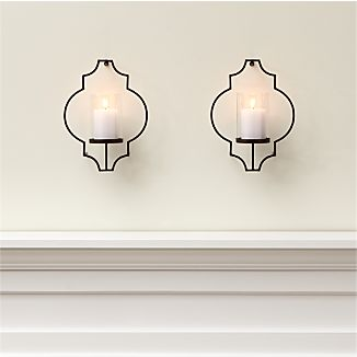 Set of 2 Rosaline Metal Wall Candle Holders