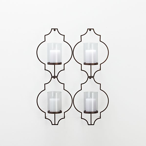 Set of 4 Rosaline Wall Candle Holders