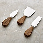Walnut Cheese Knives, Set of 3