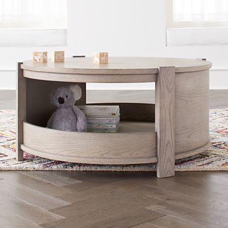 Awesome Rotunda Grey Stain Kids Table With Storage Frankydiablos Diy Chair Ideas Frankydiabloscom