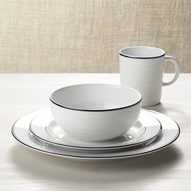 Roulette Blue Band 4-Piece Place Setting - Image 1 of 3