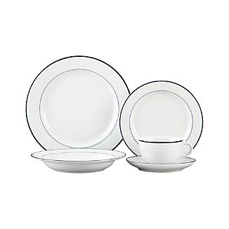 Roulette Blue Band 5-Piece Place Setting