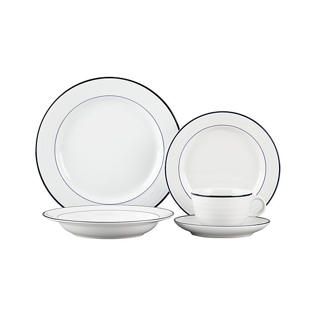Roulette Blue Band 5-Piece Place Setting - Image 1 of 3