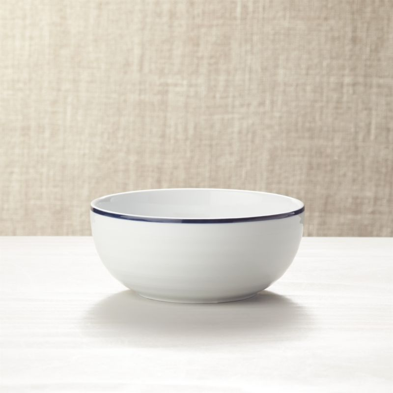 Roulette Blue Band Bowl Reviews Crate And Barrel