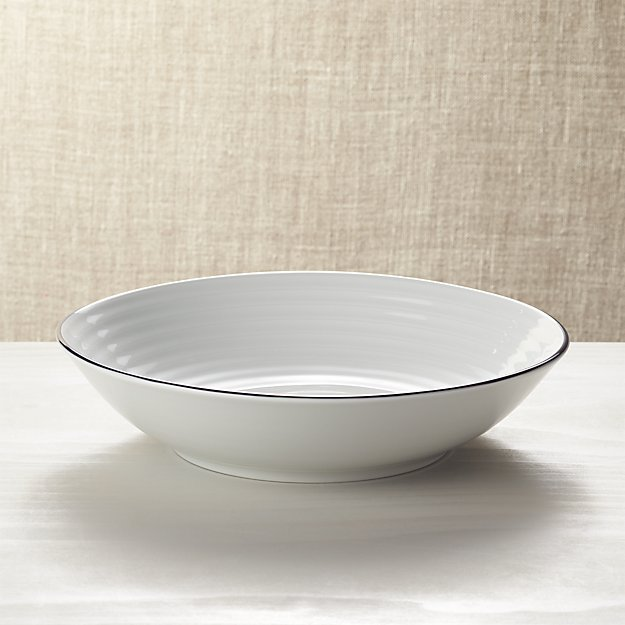 Roulette Blue Band Serving Bowl - Image 1 of 2