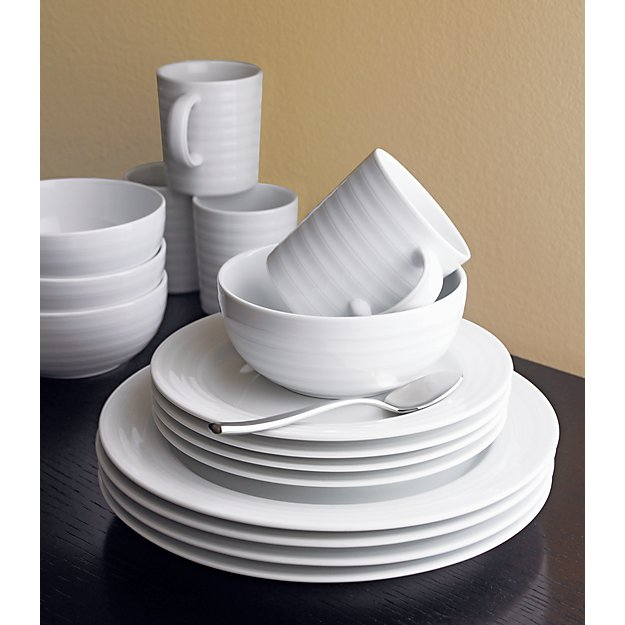 & Roulette 16-Piece Dinnerware Set + Reviews | Crate and Barrel