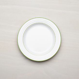 Roulette Green Band Salad Plate