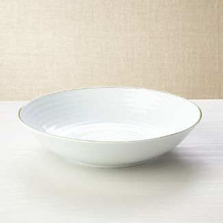 Roulette Green Band Serving Bowl