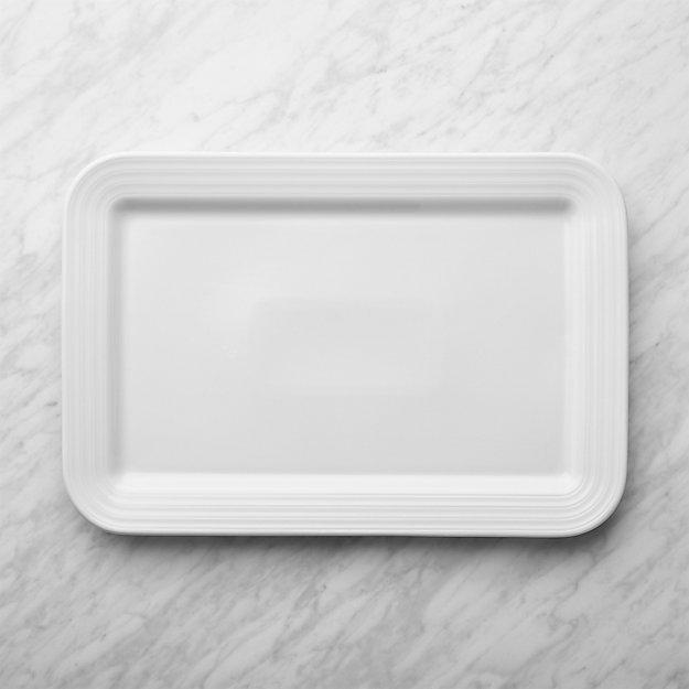 Roulette White Rectangular Serving Platter