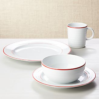 Roulette Red Band 4-Piece Place Setting
