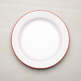 Roulette Red Band Dinner Plate