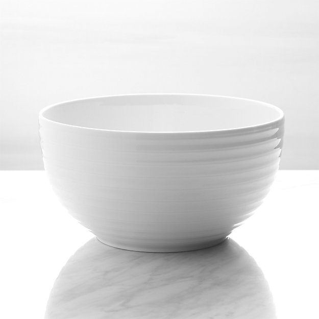 Roulette White Serving Bowl