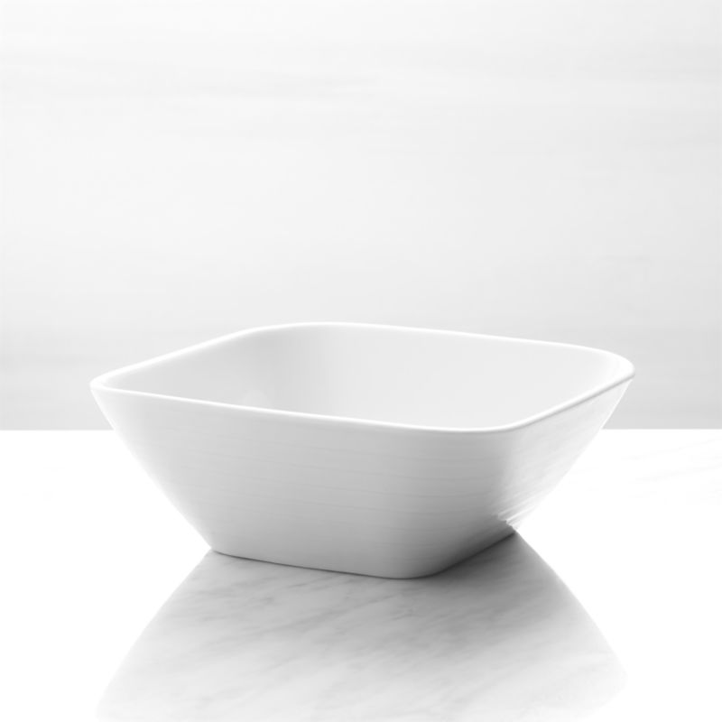 Roulette White Square Cereal Bowl Reviews Crate And Barrel