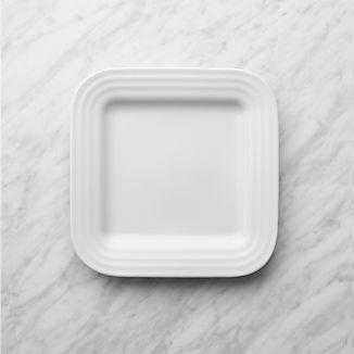 Roulette White Square Salad Plate