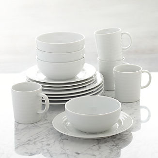 White Dinnerware Sets Crate And Barrel