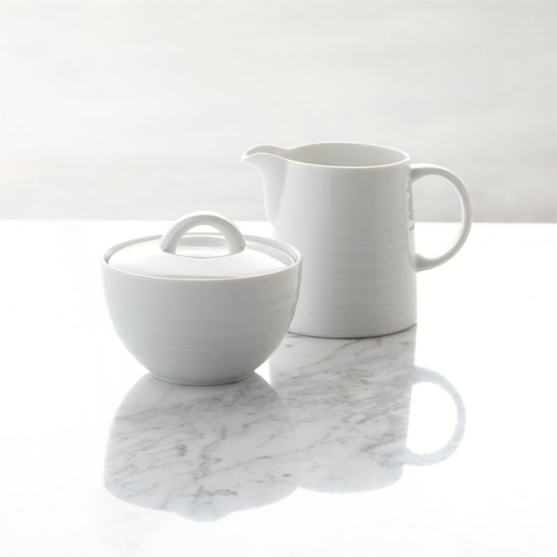 Porcelain Sugar And Creamer Set Crate And Barrel