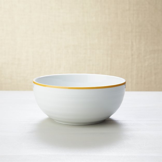 Roulette Yellow Band Cereal Bowl