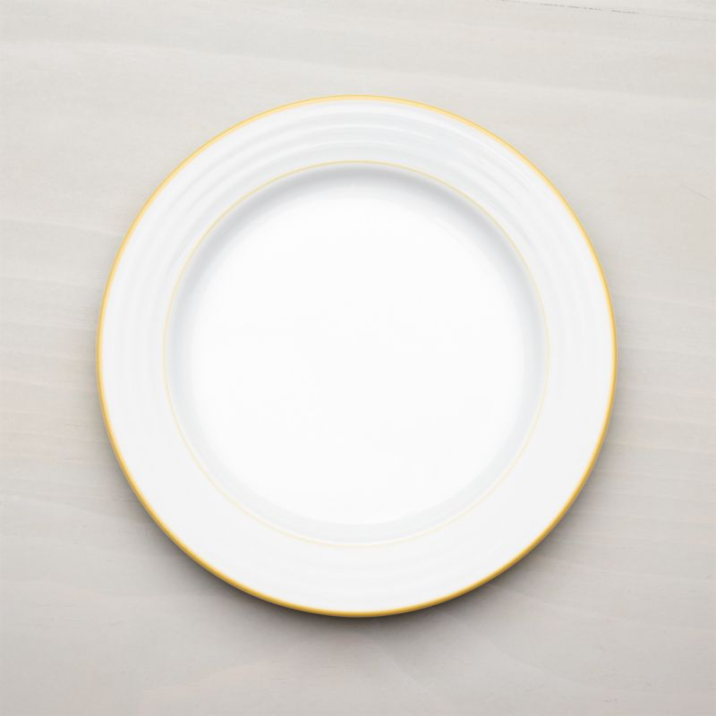 Roulette Yellow Band Dinner Plate Reviews Crate And Barrel