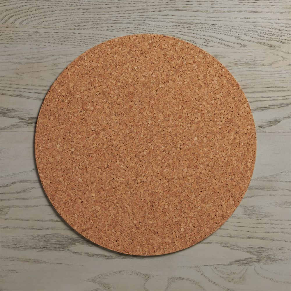 Round Cork Reversible Placemat - Crate and Barrel