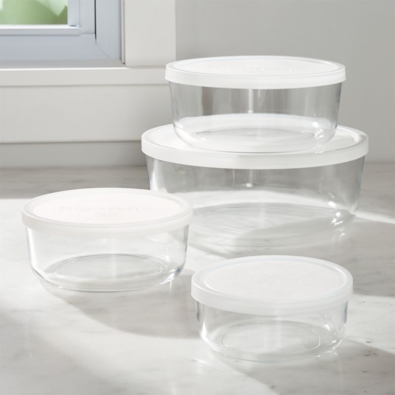 4 Piece Round Storage Bowl Set Reviews Crate and Barrel