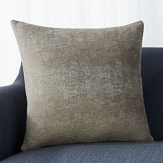"Roussel Grey 20"" Pillow with Down-Alternative Insert"