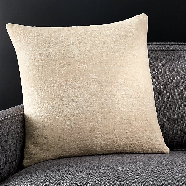Down Alternative Decorative Pillows : Ivory Pillow with Down-Alternative Insert Crate and Barrel