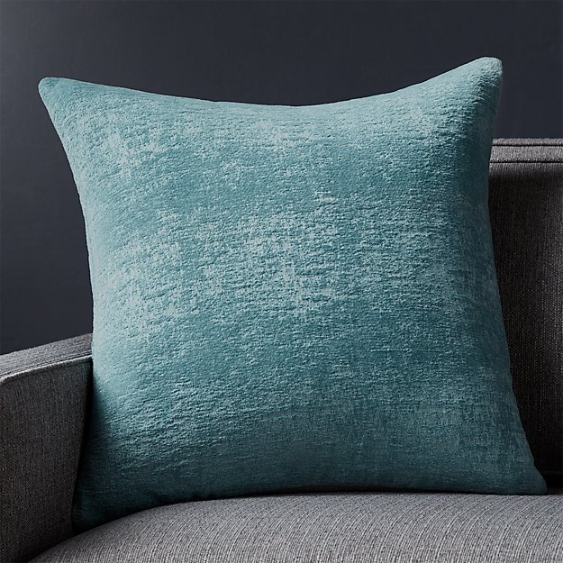 "Roussel Blue Velvet 20"" Pillow"