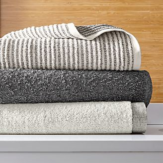 bath towels patterned decorative striped on sale crate and barrel. Black Bedroom Furniture Sets. Home Design Ideas