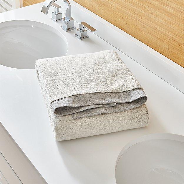 Rowan Grey Bath Towel
