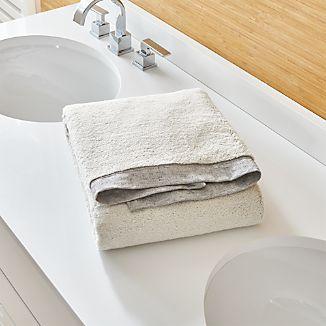 Rowan Grey Bath Towel