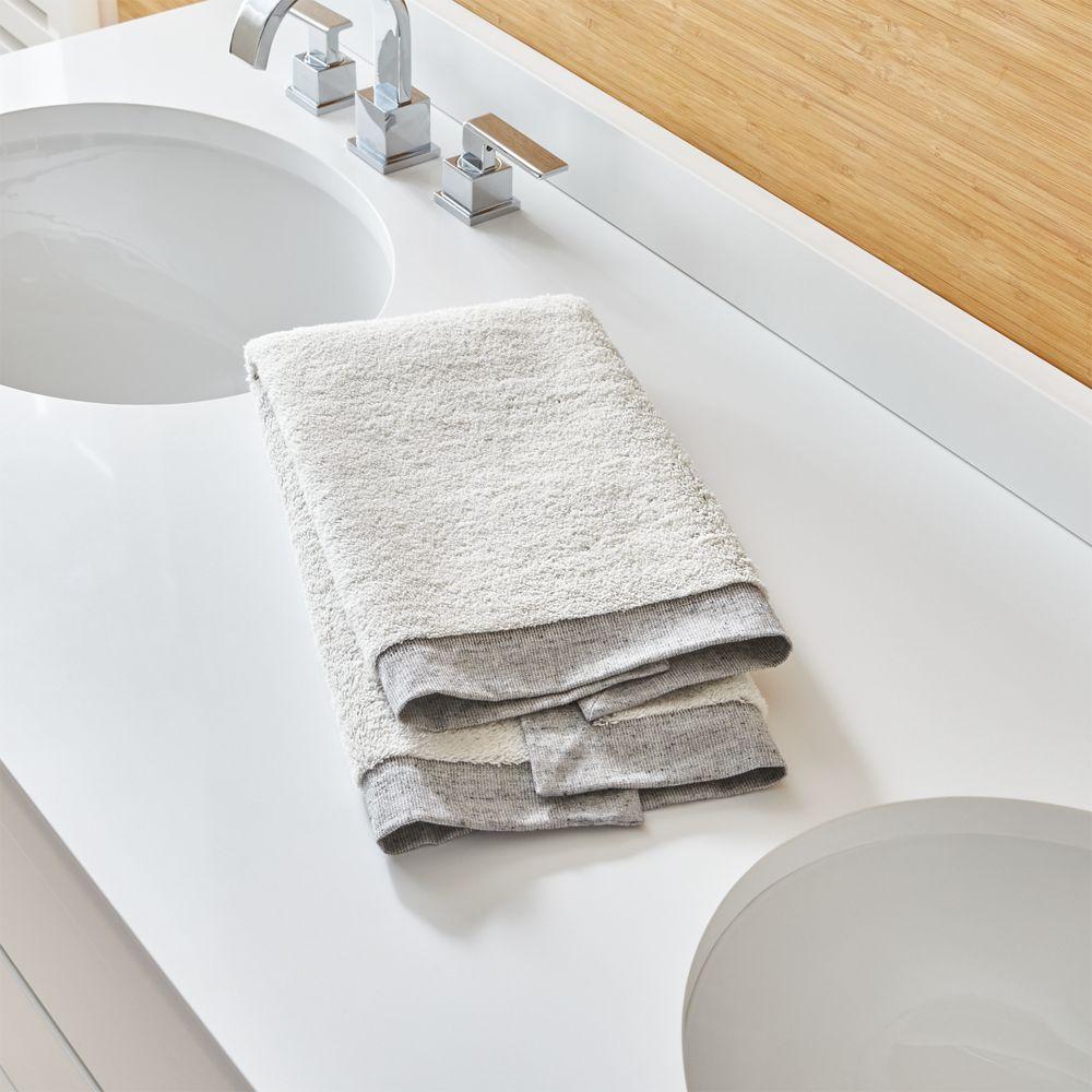 Rowan Grey Hand Towel