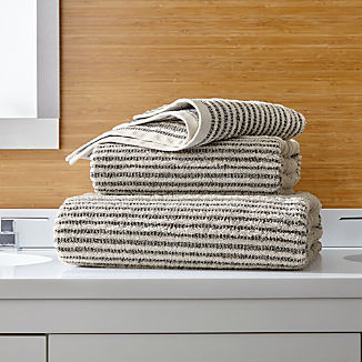 Rowan Striped Bath Towels