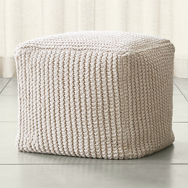 rowden crochet pouf crate and barrel