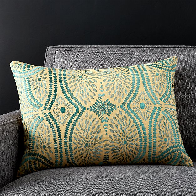 """Rowena 22""""x15"""" Pillow with Feather-Down Insert"""