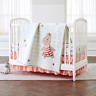 Royal Hippo Crib Bedding 3 Piece Set