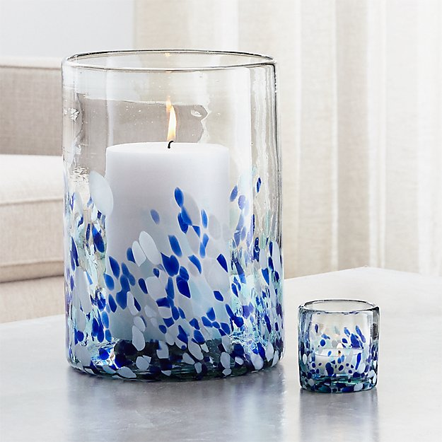 Rue Blue Candle Holders