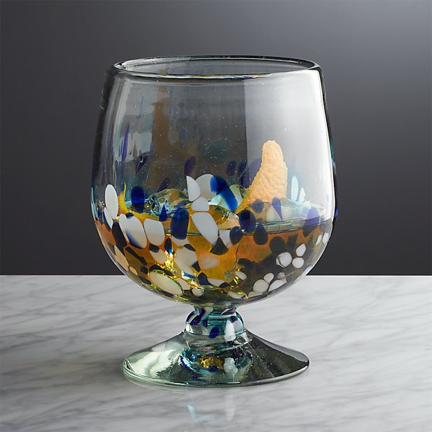 Rue Blue Cocktail Glass