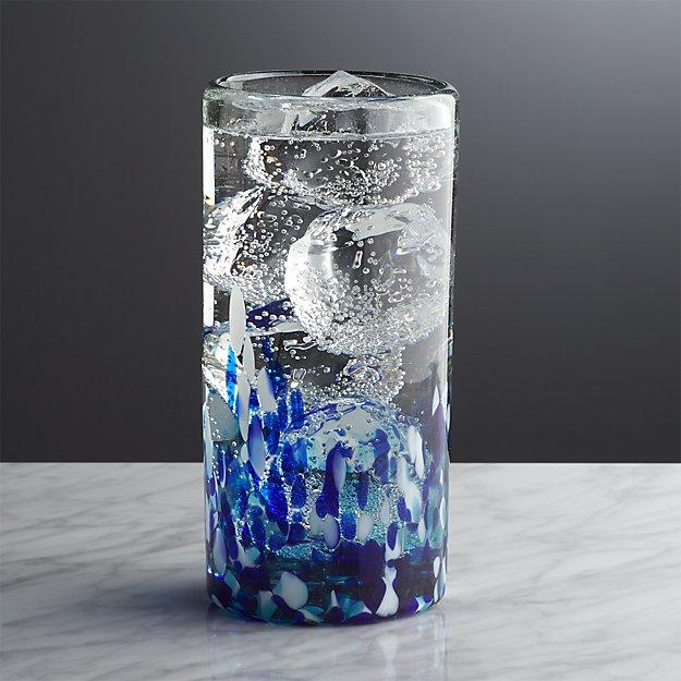 Rue Blue Highball Glass